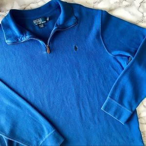 Polo Ralph Lauren Blue Quarter-Zip Pullover